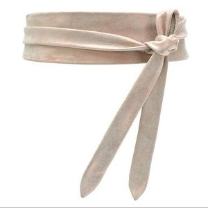 Anthropologie   ADA Rose Gold Metallic Wrap Belt